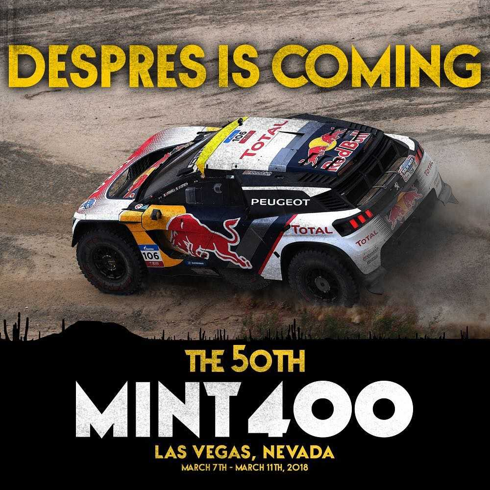 Is Preparing Himself For Another Desert Race But A Very Diffe One From The South American Challenge Frenchman Will Now Enter Mint 400